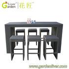 outdoor garden rattan wicker furniture rattan bar outdoor bar high table and chair