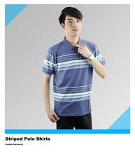 Oem Unisex Cheap Basic Striped Polo Shirts Manufacturer Cotton & TC/CVC Plain & Embroideried Polo For Men and Women