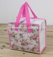 small pp non woven zipper shopping bag