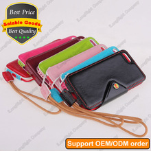 Slim PU Leather Pouch Sleeve Case + Hand Strap, PU Leather Pouch Case For iPhone 5 5S