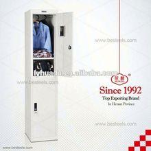 Small size steel wood grain color wardrobe locker
