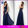 Chiffon One Shoulder Royal Blue Elegant 2014 Turkish Evening Dress