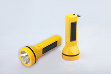 2014 Newest LED Rechargeable Solar Torch Solar Flashlight Solar Emergency Light
