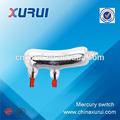 Iso9001 2 pins pz-209 vidrio líquido electrónico interruptor de mercurio