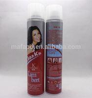 Aerosol hair spray hair shaping mousse