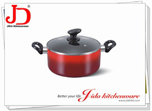 ALUMINUM CASSEROLE WITH LID AND INDUCTION BOTTOM
