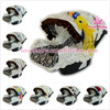 Wholesale Graco damask infant car seat cover with flower ribbon
