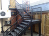 outdoor wrought iron stair/straight staircase/metal stair