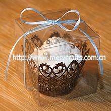 clear plastic cupcake boxes packaging, transparent souvenir plastic packaging box 9*9*9cm