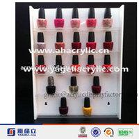 NEW Design!!!Factory Manufacturing Custom Modern Stylish Acrylic Nail Polish Display Stand Wall Mounted