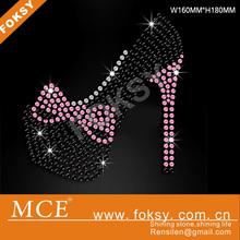 Wholesale high heels rhinestone transfer Shoes crystal accessory