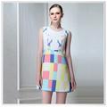 2014 el más nuevo diseño Individual Digital impresión de seda de la falda