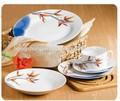 Vajilla de cerámica de la cena conjunto con colores surtidos, Francés de lujo de la porcelana