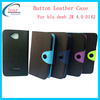 Button leather case for Dash jr 4.0 D142 BLU cell phone cases