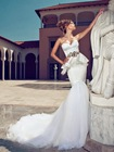 AliT-196 Glamorous Sweetheart Tulle Lace Julie Vino Mermaid Description Of Wedding Dresses