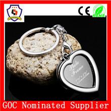 cheap metal heart shaped key rings /custom finger rings with metal heart shape from China(HH-key chain-328)