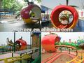 Parque de atracciones paseo, los juegos de los niños tren eléctrico mini paseo en montaña rusa para la venta