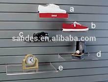 Custom Clear New Personalized Cheap Acrylic Plastic Slat Wall Shoe Shelf