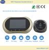 2014 wifi Android&IOS remote video talk digital door peephole viewer,door lock cylinder,wireless doorbell