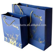 2014 luxury handmade china online selling folded shopping paper bag