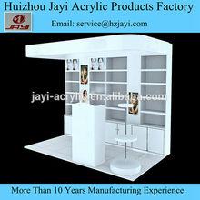 Hot! Custom high quality acrylic cosmetic display table , Alibaba China acrylic cosmetic display table