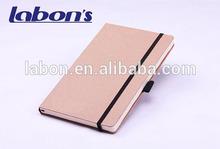 Cheap Kraft Paper Cover A5 Notebook with Pen Holder School Supplier