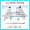 Quality Motorcycle Parts Factory Adjustable Rearsets For KAWASAKI ZX10R 2008 2009 2010 Silver