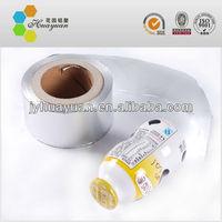 Printed Aluminum foil cap sealing for bottle