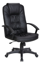 Antique style heated design black leather manager office chairs