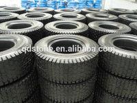 flat free black PU foam tire 13*5.00-6 with turf pattern