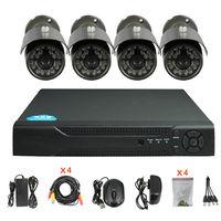 Factory Direct H.264 4CH DVR Combo DIY CCTV Camera Kit-DR06,cctv cameras system kits