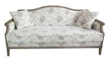 Antigo de luxo francês estilo barroco moldura de madeira maciça sofá de mpasf- 2975