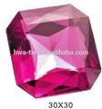 acrílico de lujo de gemas de imitación de cristal de diamante de joyería