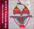 2014 bohemia padded girl hot open hot sexy xxx bikini girl swimwear photos