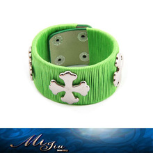 2014 Alluring Flower Studs Handmade Real Leather Bracelets