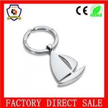 Fashion High Quality boating key chain from China guangzhou supplier cheap sailing boat key chain(HH-key chain-354)