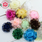 357 Factory colorful organza ribbon baby accessories hairband , baby shoes flower