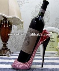High heels crystal wine rack,wine bottle holder/wine holder
