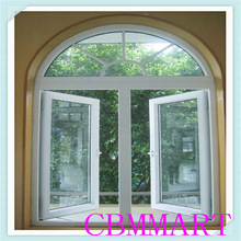 French design Arch white PVC casement window