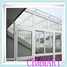 office sliding glass window/ Horizontal Low-E glass balcony window
