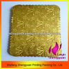 scalloped edge gold cardboard food trays for cake
