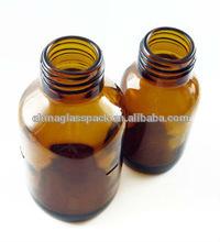 60 ml ambre / Brown couleur bouteille en verre médecine