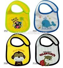 Baby kleinkinder Mittagessen baby body lätzchen schönen cartoon Speichel handtuch 3-schicht wasserdicht 15 farben
