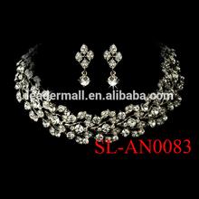 Bridal wedding jewelry necklace set diamond and ruby jewelry sets imitation jewelry sets