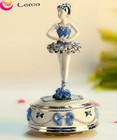 High quality best gift,rotating ballerina music box,round music tin box