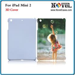 2014 Whoelesale DIY 3D Sublimation Blank Phone Case for iPad Mini 2, Cheap 3D cell phone case for iPad Mini