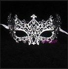 Hot Sell Silver Metal Masks MA005-SL Wholesale Luxury Design Venetian Halloween Silver Metal Masks With Clear Rhinestones