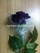 cadbury purple artificial rose,open purple silk small latex wedding flower