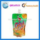 plastic beverage spout pouch/juice bag