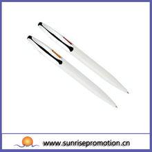 Promotional Wholesale Manual White Plastic Pen